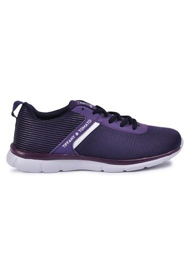 Tiffany&Tomato 9111006 Siyah-Fusya Kadın Spor Ayakkabı Mor